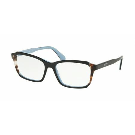 PRADA 0PR 01VV - HERITAGE TOP BLACK/AZURE/SPOTTED BROWN Woman (Prada Optical Sunglasses)