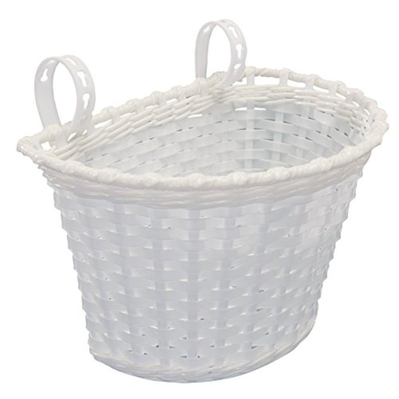 "10 X 6 X 6"" Plastic Bicycle Basket, White Kent Bicycle Accessories 96026"