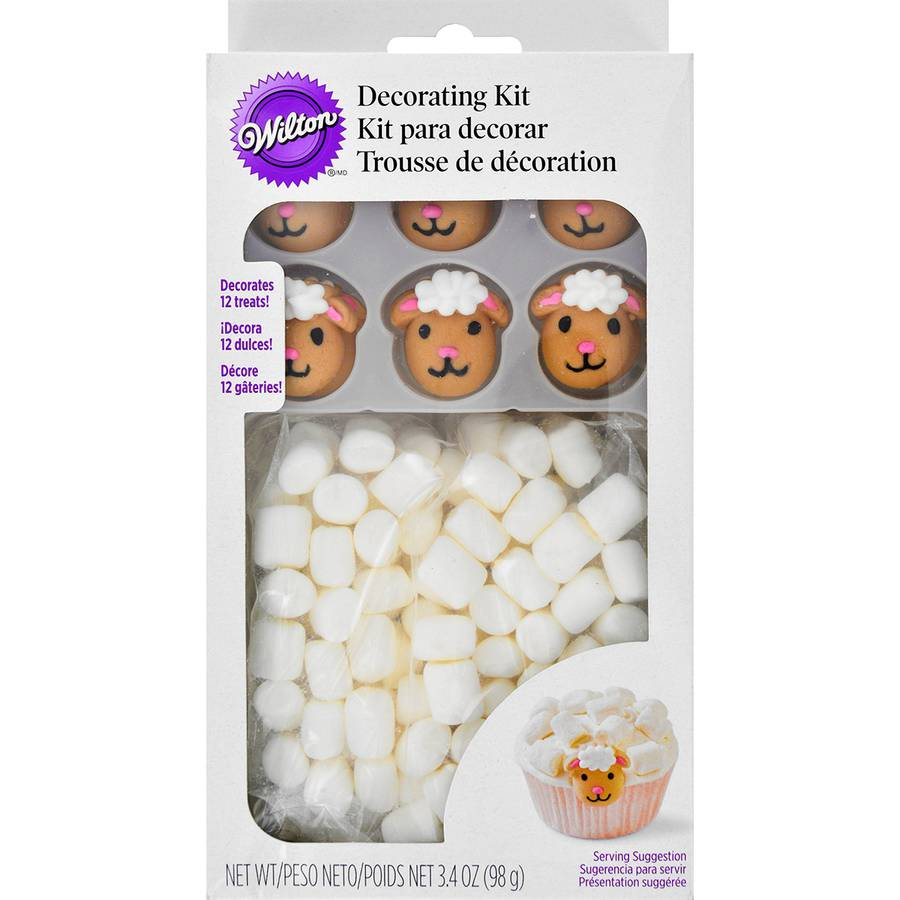 Cupcake Decorating Kit, Makes 12, Easter Lamb