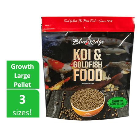 Blue Ridge Growth Formula Koi & Goldfish Food, Large Fish Food Pellets, 5 lb