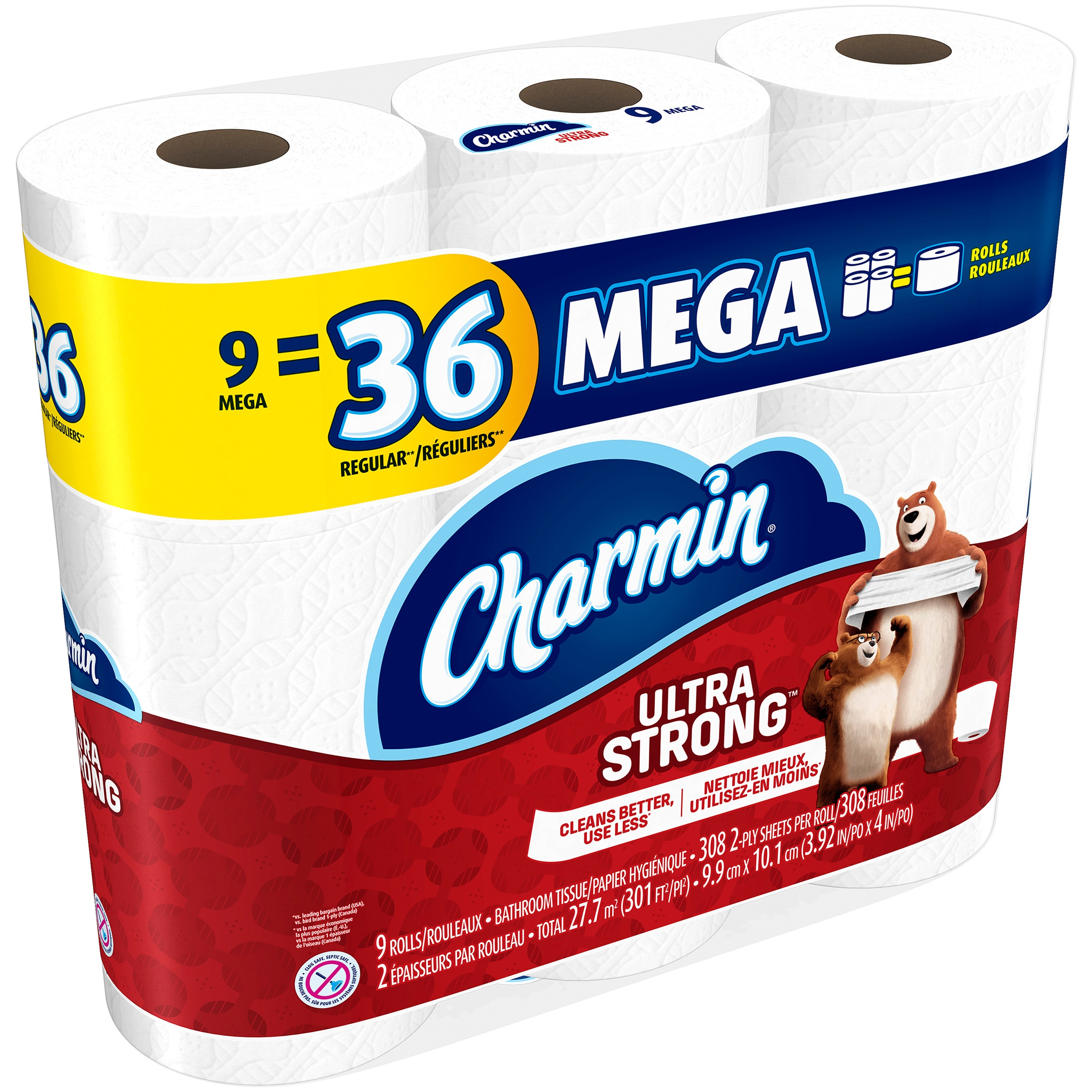 Charmin Ultra Strong Toilet Paper 9 Mega Rolls by Procter & Gamble Company