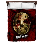 Friday The 13Th Bloody Mask Queen Duvet Cover White 88X88