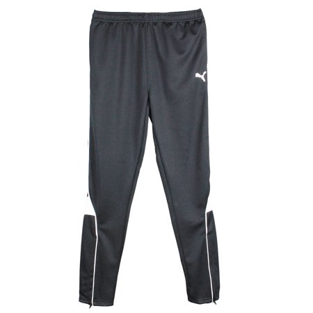 PUMA Big Boys Activewear Active Bottoms- Athletic Mesh Pants - Pure Core Soccer Pants - Black - Small