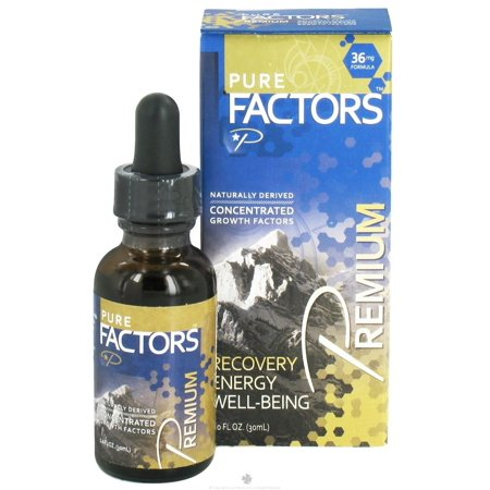 Pure Solutions - Pure Factors Premium Concentrated Growth Factors from Deer Velvet Antler Extract 36 mg. - 1 oz. Growth Factor Plus