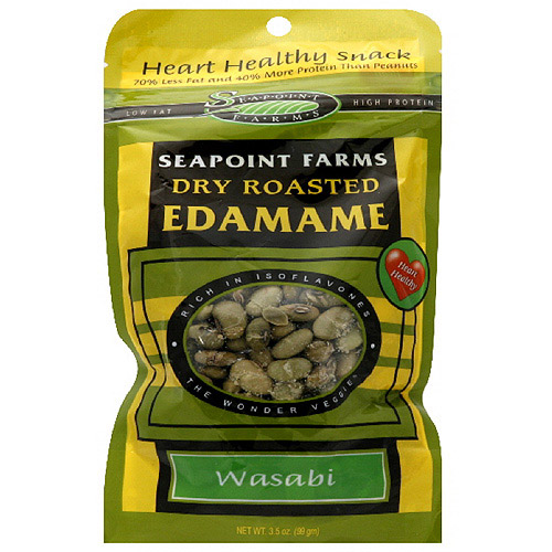 Seapoint Farms Wasabi Flavored Edamame, 3.5 oz (Pack of 12)
