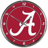 Alabama Crimson Tide WinCraft Chrome Wall Clock - No Size