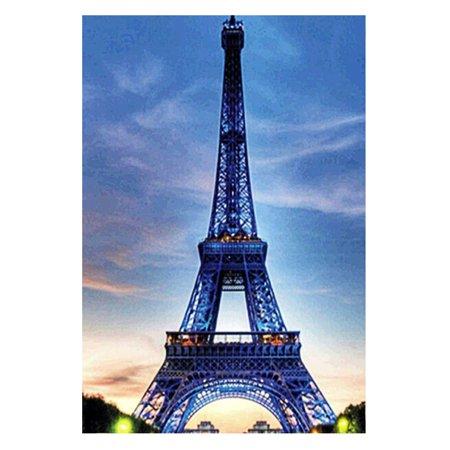 Handmade DIY 5D Eiffel Tower Diamond Embroidery Painting Wall Decoration Printing Cross Stitch Craft Kits