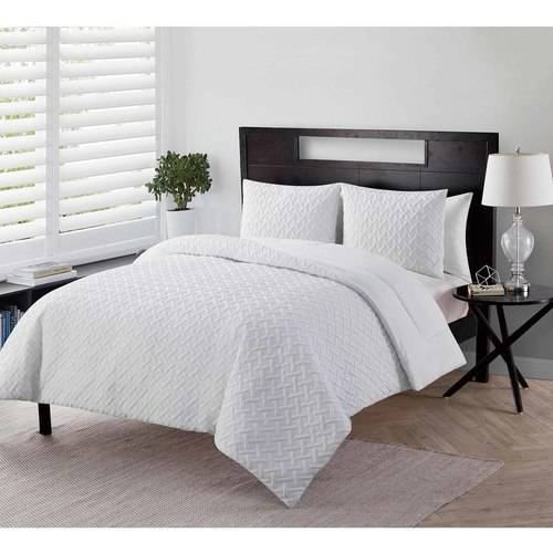 VCNY Home Nina Geometric Embossed 2/3-Piece Bedding Comforter Set, Multiple Colors and Sizes Available