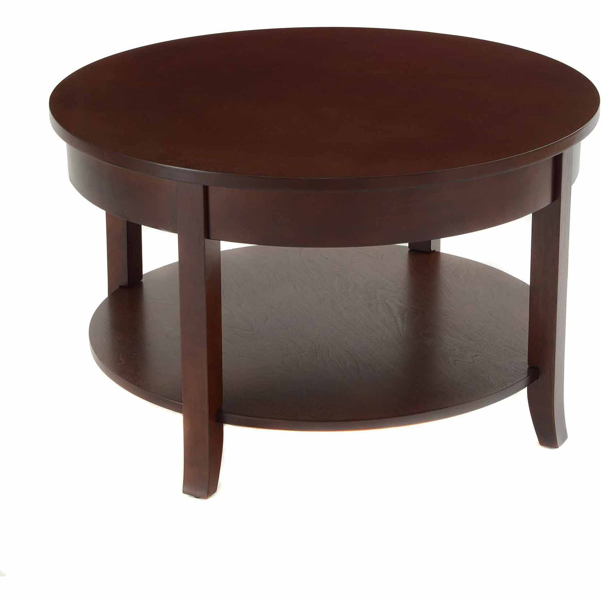 Bay Shore Collection 30 Round Coffee Table with Round Accent and