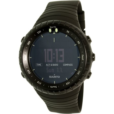 Suunto Mens Core All Black Ss014279010 Black Resin Quartz Sport Watch