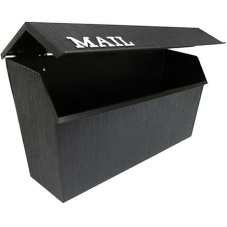 Gaines Mailbox Parts (Part 8000 Horizontal Poly Box Black, by Fulton Corp, Single Item, Great Value, N)