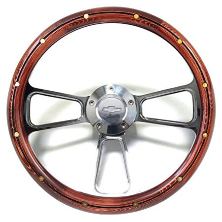 1974 - 1994 Chevy Cheyenne, Scottsdale, Silverado Wood Steering Wheel Full Kit