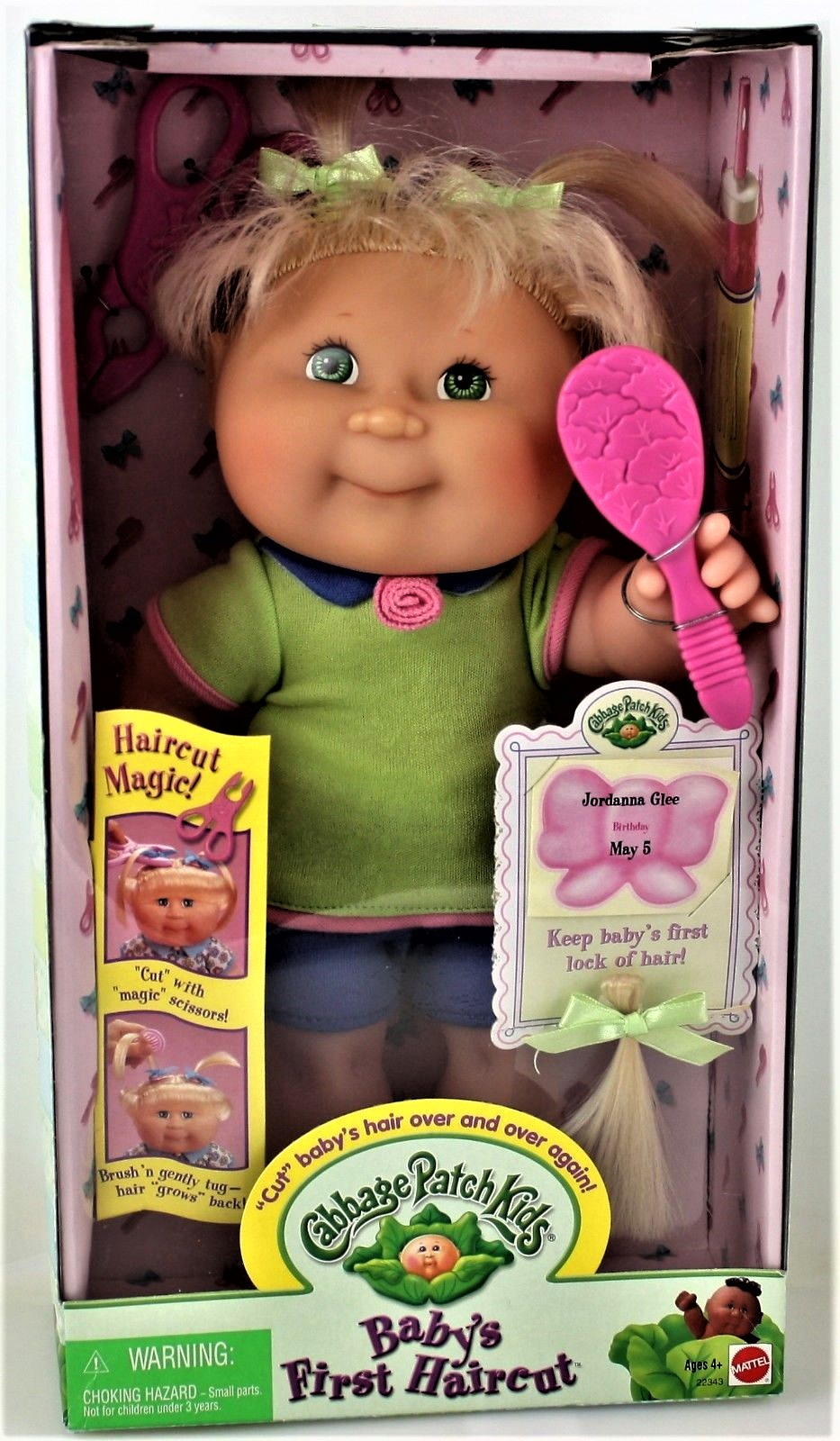"""Cabbage Patch kids Vintage 12"""" Baby's First Hair Cut by"""