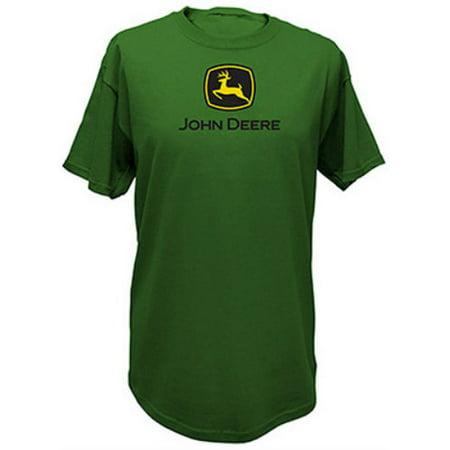 John Deere 13000000GR07 Men's Short Sleeved Tee Shirt, XXL, Green](Xxl Suits)