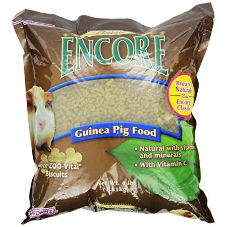 Brown's Encore Classic Guinea Pig Small Animal Food, 4 Lb