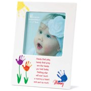 """White and Red """"Mommy"""" Printed Porcelain Photo Frame"""