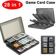 28-in-1 Game Card Case Holder Cartridge Storage Solution Box for Nintendo NEW 3DS / 3DS / DSi / DSi XL / DSi LL / DS / DS Lite(Black)