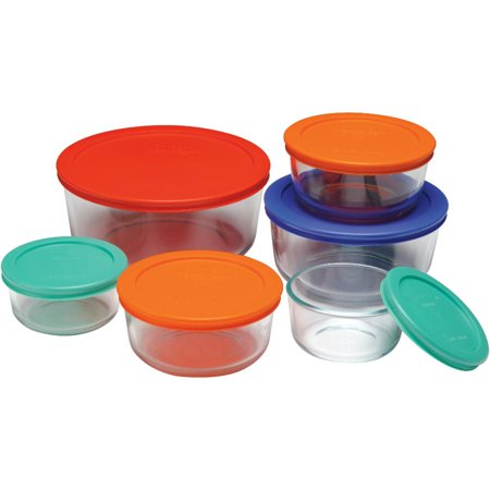 12 Piece Round Storage Dish Set, with Covers - image 1 de 1