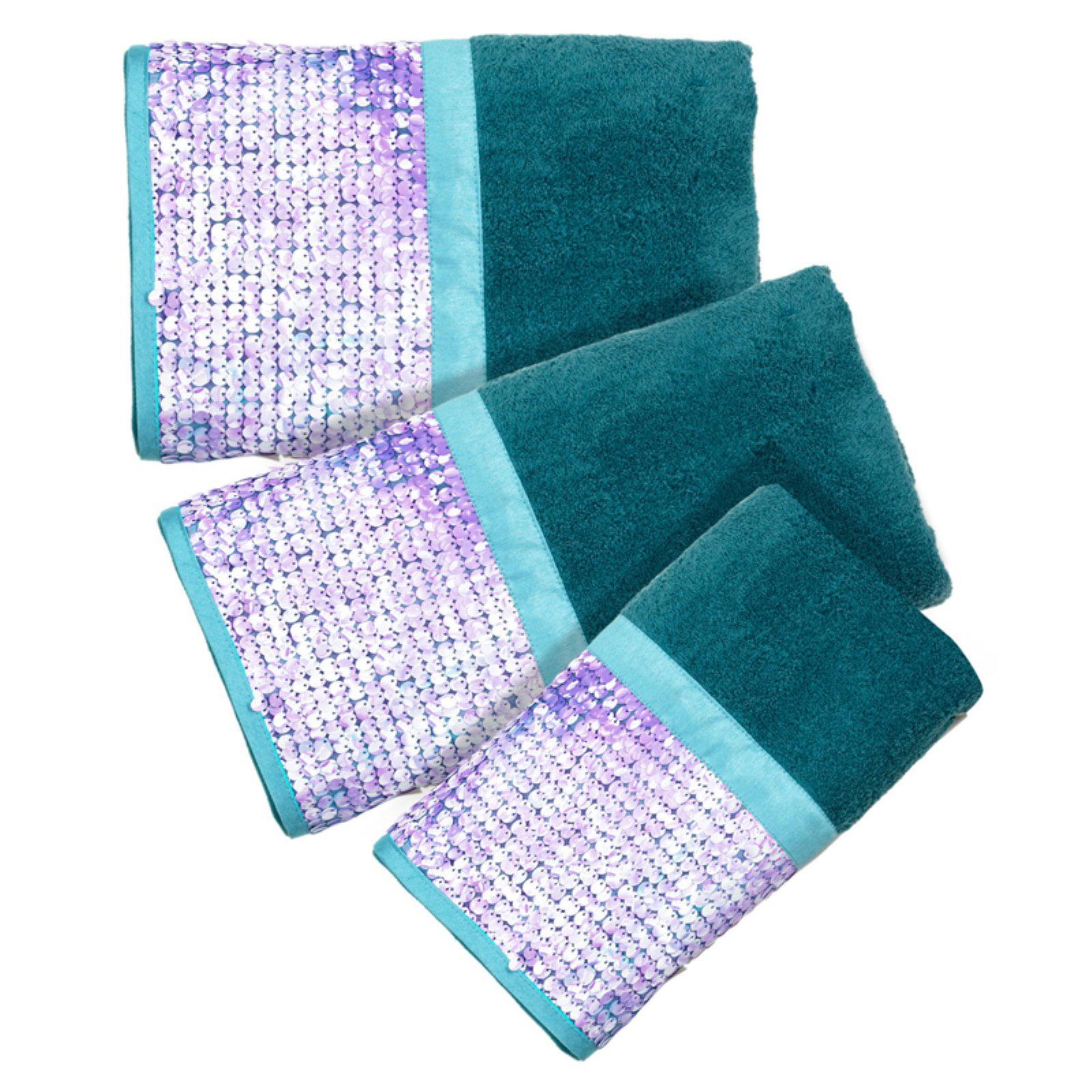Sweet Home Collection Tammi Aqua 3 Piece Bath Towel Set by Popular Bath Products