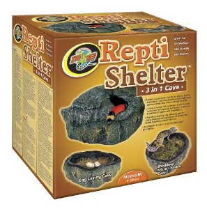 Zoo Med Reptile Shelter 3 in 1 Cave, Medium Multi-Colored