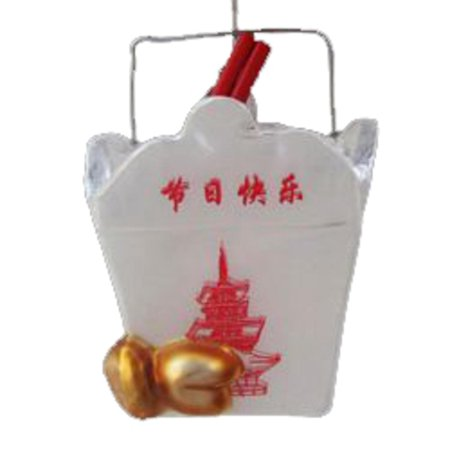 3 75 Noble Gems Chinese Food Container Glass Blown Christmas Ornament