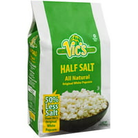 Vic's Half Salt All Natural Original White Popcorn, 6 Oz.