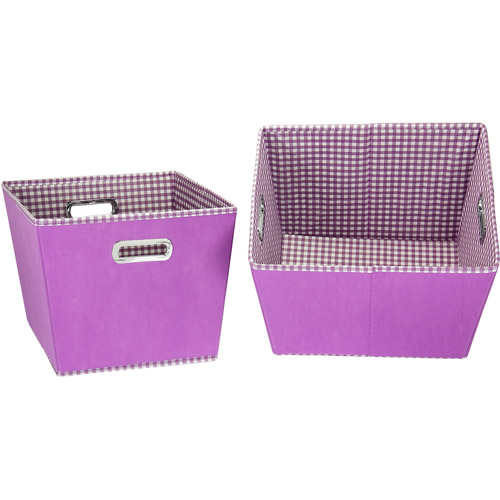 Household Essentials 2 Piece Mini Dot Tapered Bin Set