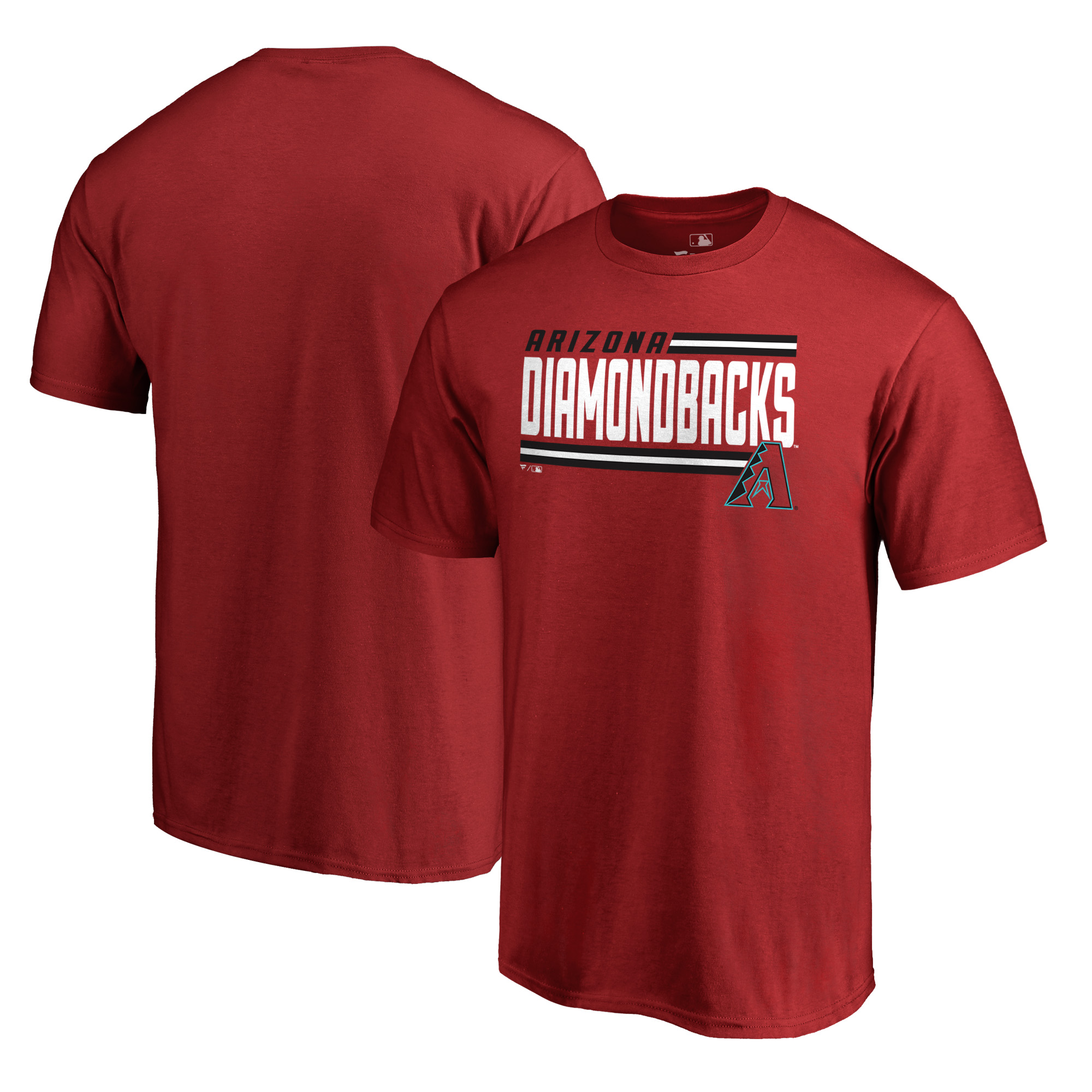 Arizona Diamondbacks Fanatics Branded Onside Stripe T-Shirt - Red