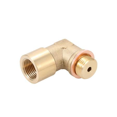 90° Angled Lambda O2 Oxygen Sensor Extender Spacer for Decat Hydrogen Brass M18x1.5