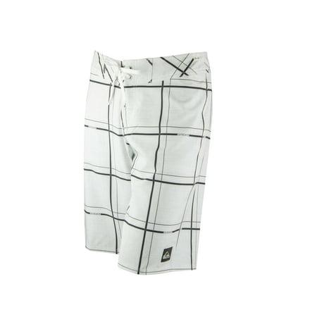 300ca56b70 Quiksilver - Quiksilver Mens Electric Stretch 21 Boardshorts - White/Black  - Walmart.com
