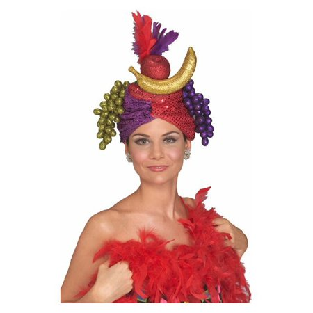Shimmering Carmen Miranda Fruit Hat for Adults - Hot Adult