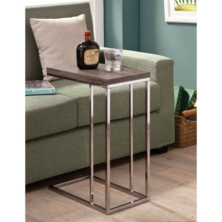 Enjoyable Coaster Furniture Weathered Gray And Chrome Snack Table Short Links Chair Design For Home Short Linksinfo