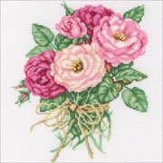 "RTO Counted Cross Stitch Kit 7.5""X8.75""-Rose Bouquet (14 Count)"