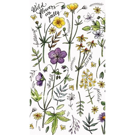 Paper Guest Towel, 30 count, Wild flowers are pretty (Personalized Paper Guest Towels)