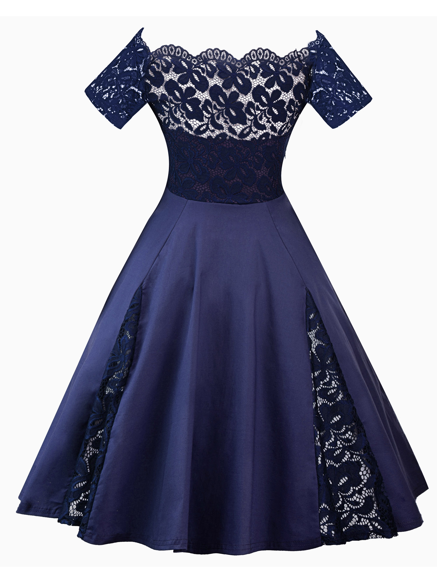 Vintage Rockabilly 50s Swing Dress Evening Formal Party Prom Maxi Dress Cocktail