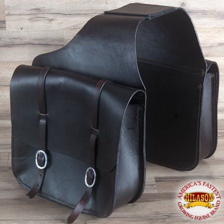 Tucker Trail Saddles - Hilason Western Heavy Duty Leather Cowboy Trail Ride Horse Saddle Bag