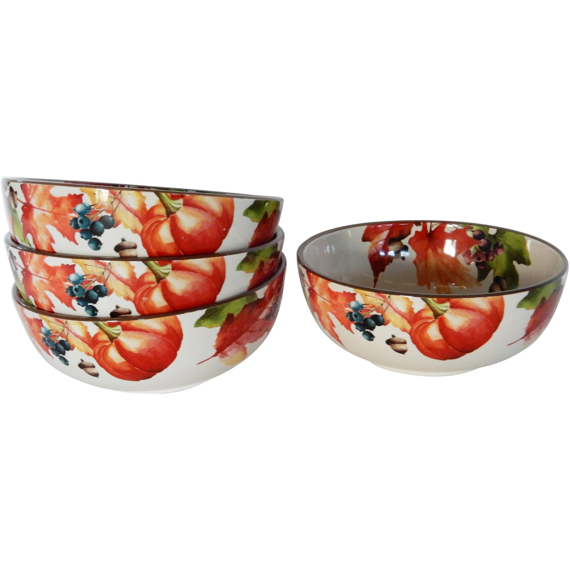 Better Homes and Gardens 4pk Bundle of Botanical Soup Bowl