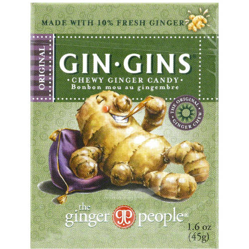 The Ginger People Gin Gins Original Candy, 1.6 oz, (Pack of 24)