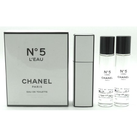 5874df355bbc1a Chanel No.5 L'EAU Twist and Spray Eau de TOILETTE Purse Spray 2 oz total: a  20ml purse spray and 2 refills (20 ml each)l. Sealed - Walmart.com