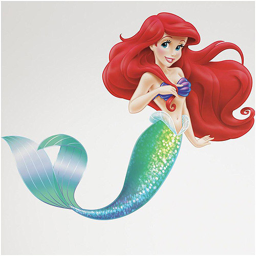 & The Little Mermaid Peel and Stick Giant Wall Decals - Walmart.com