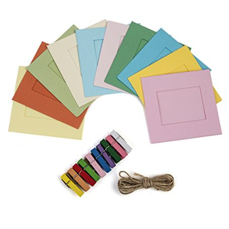 Polaroid Colorful Square Photo Frames for 2x3 ZINK Paper (Snap, Zip, Z2300) (Paper Frames)