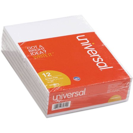 (2 Pack) Universal Scratch Pads, Unruled, 4 x 6, White, 100 Sheet Pads, 12 pack -UNV35614