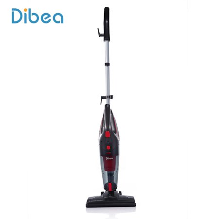 Dibea 2-in-1 Corded Upright Stick & Handheld Vacuum Cleaner 15Kpa Strong Suction Multi-Layer HEPA Filter, 1L Dust Bin, Five Height Adjustment Settings for Carpet Hard Floor