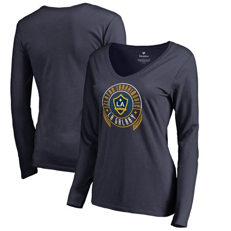 newest 572d0 afe67 Zlatan Ibrahimovic LA Galaxy Fanatics Branded Women's Hometown Collection  Scarves Up Long Sleeve V-Neck T-Shirt - Navy