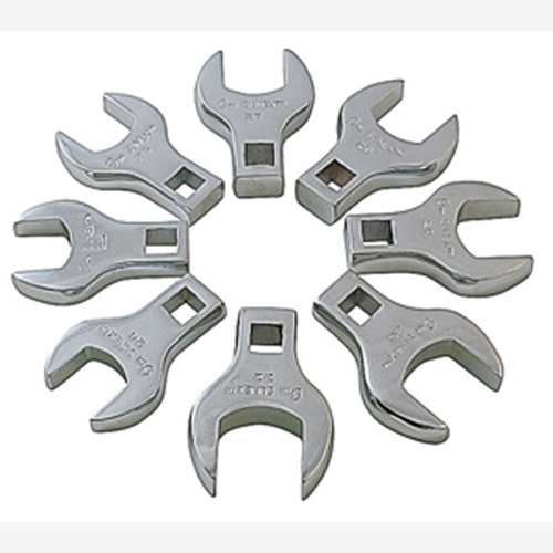 "Sunex 9730 1/2"" Dr. 8 Pc. Fully Polished Metric Jumbo Straight Crowfoot Wrench Set"