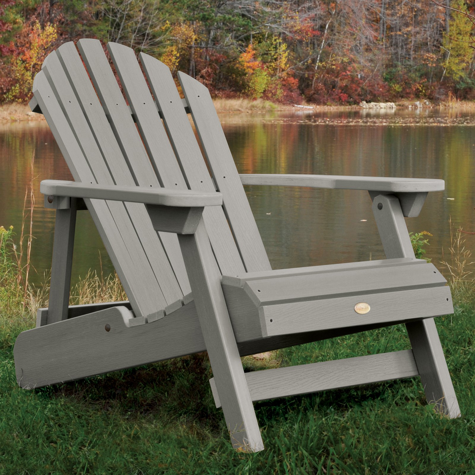 highwood hamilton folding & reclining adirondack chair - walmart