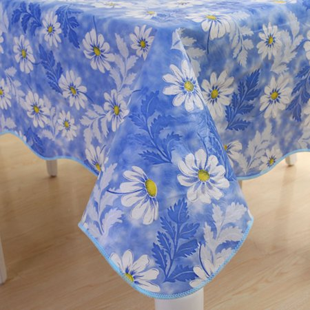 Vinyl Picnic Square Daisy Pattern Water Oil Stain