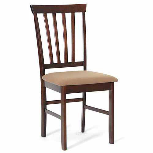 Wholesale Interiors Tiffany Wood Modern Dining Chair, Set of 2, Cappuccino/Brown