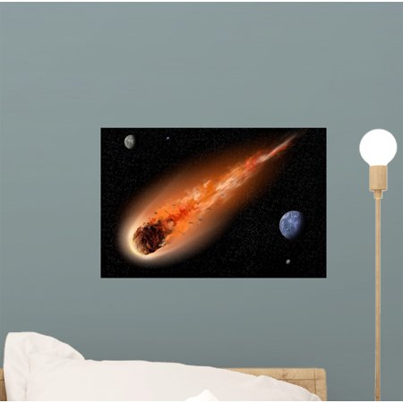 Euro Graphic Decal Sticker (Asteroid Space Wall Mural Decal Sticker, Wallmonkeys Peel & Stick Vinyl Graphic (12 in W x 8 in H) )