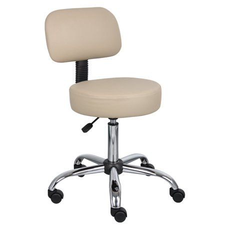 Nicer Furniture® Medical Drafting Chair Salon Stool with Back Cushion Tattoo Hydraulic Chair (Beige)